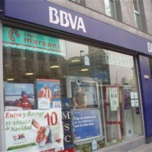 Yvanco Abogados. Cláusula Suelo. Foto de la fachada de la sucursal de un banco BBVA.